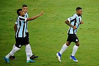 PORTO ALEGRE, RS, 22.04.2021 - GREMIO - LA EQUIDAD – O jogador Paulo Miranda, da equipe do Grêmio, comemora o seu gol, na partida entre Grêmio e La Equidad, pela primeira rodada da Copa Sul Americana, no estádio Arena do Grêmio, em Porto Alegre, nesta quinta-feira (22).