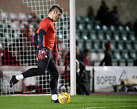 Lincoln City's Matt Gilks during the pre-match warm-up<br /> <br /> Photographer Chris Vaughan/CameraSport<br /> <br /> The EFL Sky Bet League Two - Lincoln City v Exeter City - Tuesday 26th February 2019 - Sincil Bank - Lincoln<br /> <br /> World Copyright © 2019 CameraSport. All rights reserved. 43 Linden Ave. Countesthorpe. Leicester. England. LE8 5PG - Tel: +44 (0) 116 277 4147 - admin@camerasport.com - www.camerasport.com