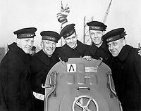The five Sullivan brothers, all of whom were lost in the sinking of the U.S.S. Juneau, November 13, 1942. (Acme. (OWI)<br /> NARA FILE #:  208-PU-195GG-1<br /> WAR & CONFLICT #:  760