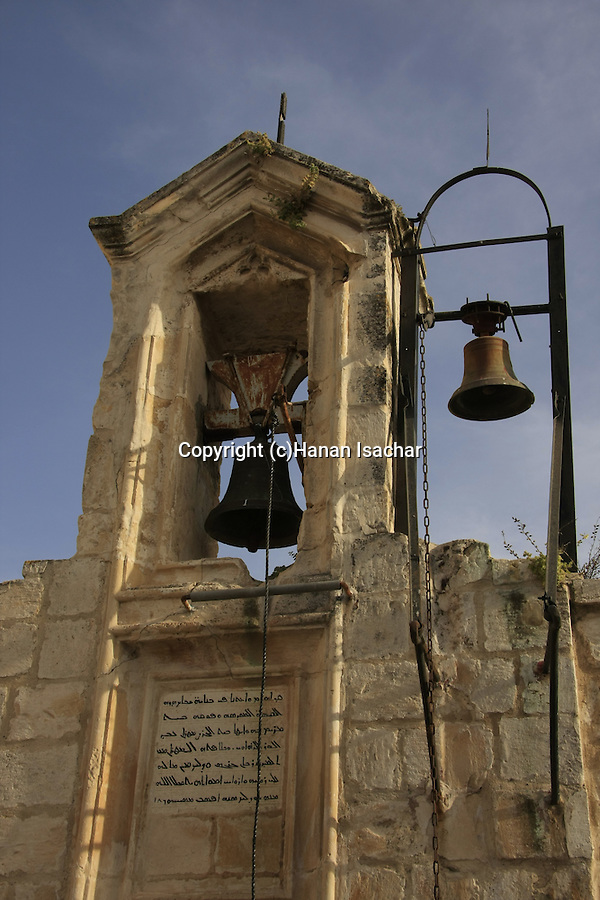 Israel, Jerusalem Old City, the bell tower of the Syrian Orthodox St. Mark's Church
