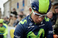 Nairo Quintana (COL/Movistar) at the start<br /> <br /> 70th Dwars Door Vlaanderen 2015