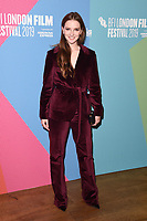 """Morfydd Clark<br /> arriving for the """"Eternal Beauty"""" screening as part of the London Film Festival 2019 at the NFT South Bank, London<br /> <br /> ©Ash Knotek  D3523 08/10/2019"""
