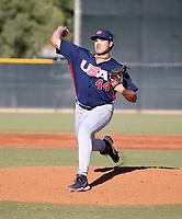 Cody Ponce - USA Baseball Premier 12 Team - October 25- 28, 2019 (Bill Mitchell)