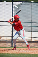Philadelphia Phillies Yahir Gurrola (21) during a Minor League Spring Training game against the Pittsburgh Pirates on March 23, 2018 at the Carpenter Complex in Clearwater, Florida.  (Mike Janes/Four Seam Images)