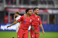WASHINGTON, D.C. - OCTOBER 11: Weston McKennie #8 of the United States celebrates his goal with teammates during their Nations League game versus Cuba at Audi Field, on October 11, 2019 in Washington D.C.