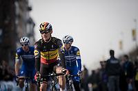 Yves LAMPAERT (BEL/Deceuninck-Quick Step) off to sign-on<br /> <br /> 103rd Ronde van Vlaanderen 2019<br /> One day race from Antwerp to Oudenaarde (BEL/270km)<br /> <br /> ©kramon