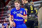 Freude bei Tobias Heinzelmann (HBW Balingen #28) ; BGV Handball Cup 2020 Halbfinaltag: TVB Stuttgart vs. HBW Balingen-Weilstetten am 11.09.2020 in Ludwigsburg (MHPArena), Baden-Wuerttemberg, Deutschland<br /> <br /> Foto © PIX-Sportfotos *** Foto ist honorarpflichtig! *** Auf Anfrage in hoeherer Qualitaet/Aufloesung. Belegexemplar erbeten. Veroeffentlichung ausschliesslich fuer journalistisch-publizistische Zwecke. For editorial use only.