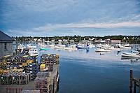 Lobstering dock, Bernard, Maine, ME, USA