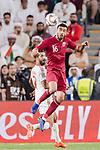 Boualem Khoukhi of Qatar (front) in action during the AFC Asian Cup UAE 2019 Semi Finals match between Qatar (QAT) and United Arab Emirates (UAE) at Mohammed Bin Zaied Stadium  on 29 January 2019 in Abu Dhabi, United Arab Emirates. Photo by Marcio Rodrigo Machado / Power Sport Images