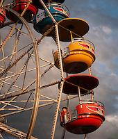 Ferris wheel at the Western Montana State Fair, Missoula, Montana 2011.