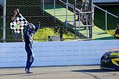 Monster Energy NASCAR Cup Series<br /> Overton's 400<br /> Pocono Raceway, Long Pond, PA USA<br /> Sunday 30 July 2017<br /> Kyle Busch, Joe Gibbs Racing, M&M's Caramel Toyota Camry, Celebrates after winning at Pocono.<br /> World Copyright: Susan DeVault<br /> LAT Images