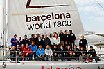 Alex Thomson and Andy Meiklejohn crew on the IMOCA 60 Hugo Boss design by Juan kouyoumdjian  preparing for the Barcelona World Race..The Barcelona World Race is the first only double-handed (two-crew) regatta around the world. This is a non-stop regatta with some outside assistance permitted, although subject to rules and  penalties.