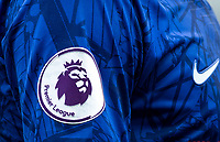 Premier League badge on Chelsea 2019/20 shirt sleeve during the Premier League match between Chelsea and Watford at Stamford Bridge, London, England on 5 May 2019. Photo by Andy Rowland.<br /> .<br /> Editorial use only, license required for commercial use. No use in betting,<br /> games or a single club/league/player publications.'