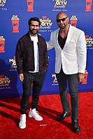 SANTA MONICA, USA. June 16, 2019: Dave Bautista & Kumail Nanjiani at the 2019 MTV Movie & TV Awards at Barker Hangar, Santa Monica.<br /> Picture: Paul Smith/Featureflash