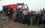 Childrens shoot teenagers and kids learning about rural sports they Hampshire England 2000s