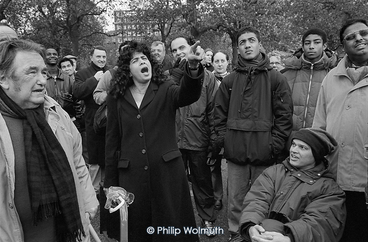 Speakers' Corner, Hyde Park, London; 2001.