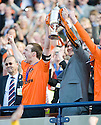 15/05/2010   Copyright  Pic : James Stewart.sct_js033_ross_county_v_dundee_utd  .:: ANDY WEBSTER AND LEE WILKIE LIFT THE CUP ::  .James Stewart Photography 19 Carronlea Drive, Falkirk. FK2 8DN      Vat Reg No. 607 6932 25.Telephone      : +44 (0)1324 570291 .Mobile              : +44 (0)7721 416997.E-mail  :  jim@jspa.co.uk.If you require further information then contact Jim Stewart on any of the numbers above.........