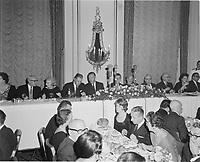 le 50 ieme anniversaire du Devoir, 27 Novembre 1960 au Chateau Frontenac.<br /> <br /> <br /> PHOTO  : Agence Quebec Presse - Photo Moderne