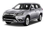2020 Mitsubishi Outlander-PHEV Business 5 Door SUV Angular Front automotive stock photos of front three quarter view