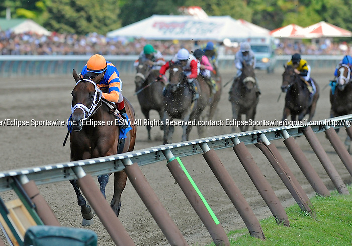 10 August 28: Uncle Mo (no. 3), ridden by John Velazquez and trained by Todd Pletcher, crushes the field and wins his maiden race at Saratoga Race Track in Saratoga Springs, New York.