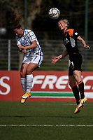 Gloria Marinelli of FC Internazionale and Kaja Erzen of AS Roma compete for the ball during the Women Serie A football match between AS Roma and FC Internazionale at stadio Agostino Di Bartolomei, Roma, March 20th, 2021. AS Roma won 4-3 over FC Internazionale. Photo Andrea Staccioli / Insidefoto