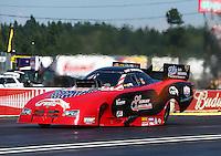 Aug. 3, 2014; Kent, WA, USA; NHRA funny car driver Gary Densham during the Northwest Nationals at Pacific Raceways. Mandatory Credit: Mark J. Rebilas-