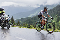Tadej Pogacar (SVN/UAE-Emirates) up the Col de la Colombière and on his way to Yellow<br /> <br /> Stage 8 from Oyonnax to Le Grand-Bornand (150.8km)<br /> 108th Tour de France 2021 (2.UWT)<br /> <br /> ©kramon