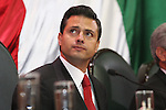 Mexico State Governor Enrique Pena Nieto looks around during his state of office at the Chamber of Deputies in Toluca city, some 50 km from Mexico City on September 5, 2007. Pena Nieto was requested by opposition deputies on justice and violence issues and the increasing criminality in the state. Photo by Javier Rodriguez