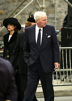 D&K :Montreal, 2000-10-03 File Photo of<br /> Power Corporation founder and controlling shares holder ;  Paul Desmarais (Senior) with his wife (left).<br /> Even after officialing stepping down from the direction and letting his two sons Andre and Paul Junior be CEOs he remains of control of Power Corp.<br /> <br /> <br /> PHOTO : Agence Quebec Presse - Pierre Roussel