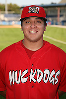 September 5, 2009:  Pitcher Jonny Bravo of the Batavia Muckdogs before a game at Dwyer Stadium in Batavia, NY.  The Muckdogs are the Short-Season Class-A affiliate of the St. Louis Cardinals.  Photo By Mike Janes/Four Seam Images