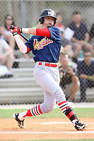 Forrest Wall, #8 of Orangewood Christian High School, FL for the Cardinals Scout Team / FTB Chandler during the WWBA World Championship 2013 at the Roger Dean Complex on October 25, 2013 in Jupiter, Florida. (Stacy Jo Grant/Four Seam Images)