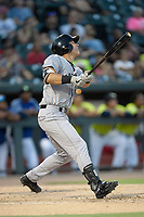 Third baseman Shane Matheny (15) of the Augusta GreenJackets bats in a game against the Columbia Fireflies on Friday, May 31, 2019, at Segra Park in Columbia, South Carolina. Augusta won, 8-6. (Tom Priddy/Four Seam Images)