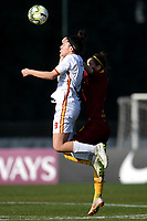 Serena Landa of Roma CF and Angelica Soffia of AS Roma compete for the ball during the Women Italy cup round of 8 second leg match between AS Roma and Roma Calcio Femminile at stadio delle tre fontane, Roma, February 20, 2019 <br /> Foto Andrea Staccioli / Insidefoto