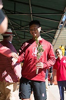 STANFORD, CA - February 17, 2018: Andrew Liang at Avery Aquatic Center. The Stanford Cardinal defeated the California Golden Bears 151-149 on Senior Day.