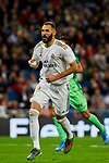 Karim Benzema of Real Madrid celebrates goal during La Liga match between Real Madrid and CD Leganes at Santiago Bernabeu Stadium in Madrid, Spain. October 30, 2019. (ALTERPHOTOS/A. Perez Meca)