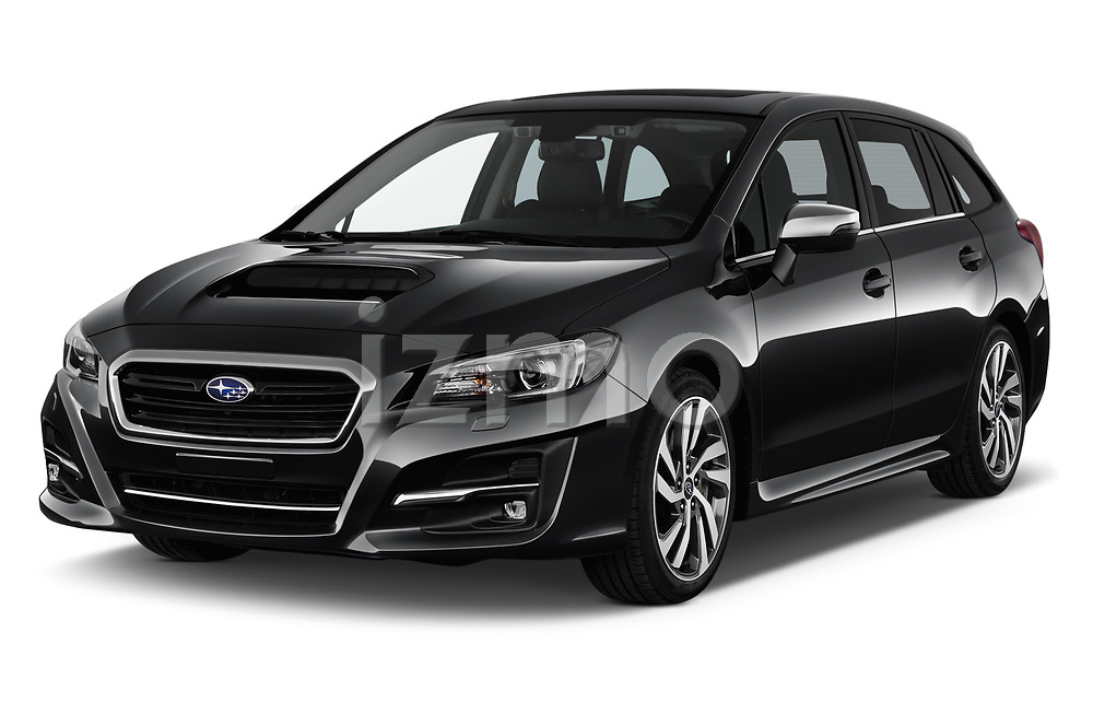2018 Subaru Levorg GTS Premium 5 Door Wagon angular front stock photos of front three quarter view