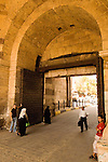 Cairo, Egypt -- Bab el-Futuh gate.  One of the three first gates installed around the historic walled city of Cairo, standing at the northern boundary of old Fatimid Cairo.   © Rick Collier / RickCollier.com