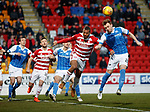 St Johnstone v Hamilton Accies…28.03.18…  McDiarmid Park    SPFL<br />Liam Craig scores the opening goal<br />Picture by Graeme Hart. <br />Copyright Perthshire Picture Agency<br />Tel: 01738 623350  Mobile: 07990 594431