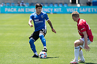 SAN JOSE, CA - APRIL 24: Eduardo Lopez #9 of the San Jose Earthquakes moves with the ball during a game between FC Dallas and San Jose Earthquakes at PayPal Park on April 24, 2021 in San Jose, California.