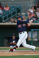 J.D. Davis (26) of the Lancaster JetHawks bats during a game against the Bakersfield Blaze at The Hanger on August 5, 2015 in Lancaster, California. Bakersfield defeated Lancaster, 12-5. (Larry Goren/Four Seam Images)