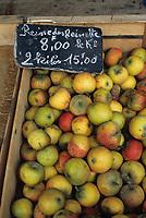 Europe/France/Normandie/Basse-Normandie/14/Calvados/Honfleur: Pommes sur le marché
