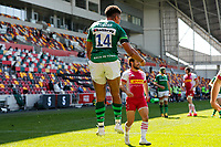 24th April 2021; Brentford Community Stadium, London, England; Gallagher Premiership Rugby, London Irish versus Harlequins; Ben Loader of London Irish celebrates after scoring his try