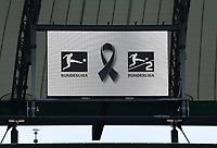 23rd May 2020, Volkswagen Arena, Wolfsburg, Lower Saxony, Germany; Bundesliga football,VfL Wolfsburg versus Borussia Dortmund; Bundesliga signage on display in arena