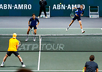 Rotterdam, The Netherlands, 15 Februari 2020, ABNAMRO World Tennis Tournament, Ahoy, <br /> Dooubles: Raven Klaasen (RSA) and Oliver Marach (AUT), Pierre-Hugues Herbert (FRA) and Nicolas Mahut (FRA).<br /> Photo: www.tennisimages.com