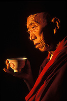 Chundan, Tibetan lama living in exile in Pokhara Nepal. Was held prisoner for years in Tibet by teh Chinese.