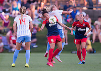 Boyds, MD - Saturday, July 25 2015: The Chicago Red Stars and the Washington Spirit played to a 1-1 tie in a NWSL match at Maryland SoccerPlex.