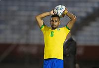 17th November 2020; Centenario Stadium, Montevideo, Uruguay; Qatar 2022 qualifiers; Uruguay versus Brazil; Renan Lodi of Brazil takes a throw in