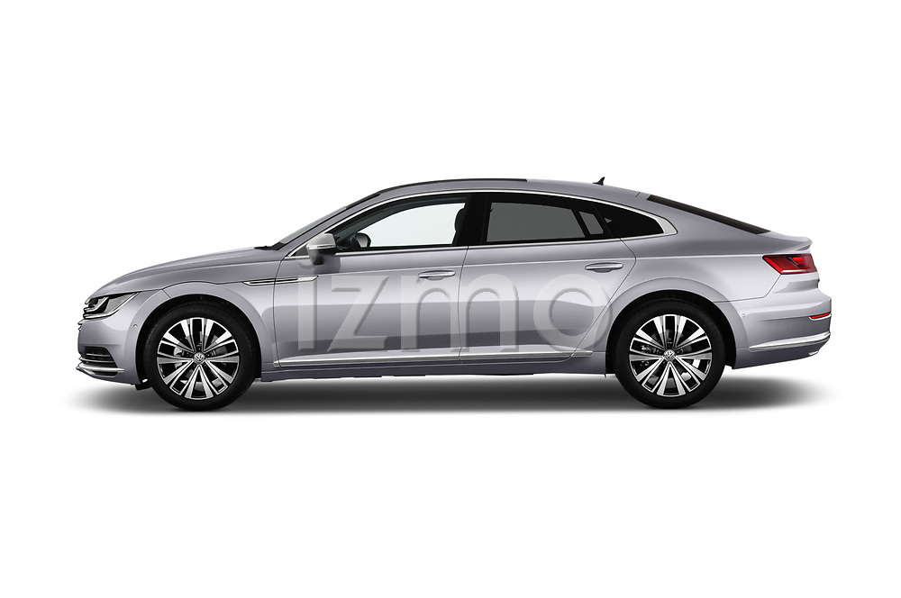 Car Driver side profile view of a 2018 Volkswagen Arteon Elegance 5 Door Hatchback Side View