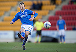 St Johnstone v St Mirren.....11.01.14   SPFL<br /> Dave Mackay's free kick hits the cross bar<br /> Picture by Graeme Hart.<br /> Copyright Perthshire Picture Agency<br /> Tel: 01738 623350  Mobile: 07990 594431