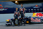 Red Bull's Sebastian Vettel and Mark Webber unveil their car during Formula One official tests. February 01, 2011. (Vicente Llopis/Alfaqui)